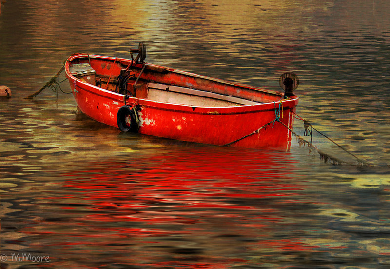 The Red Dory in the Rain
