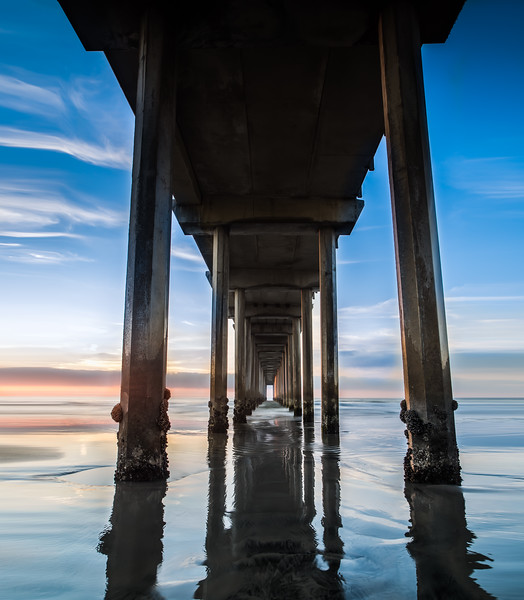 Sunset at the Iconic Scripps Pier