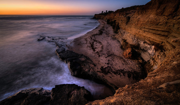"""""""Great Bear Cove""""  The Bear-By-The-Sea in the Sunset Cliffs Natural Park in San Diego, California. Off the coast of San Diego on Point Loma you will find this beautiful location. A stretch of beautiful scenery called the Sunset Cliffs. At this specific location the vantage point gives you the perspective of the profile of a large grizzly bear."""