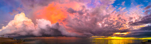 Tropical Storm Bill Panorama 34 inches long.