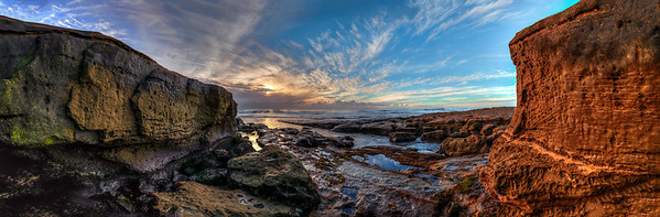 """Jewel Of The Pacific""  The setting sun on the Pacific Coast of La Jolla, California (the jewel)."