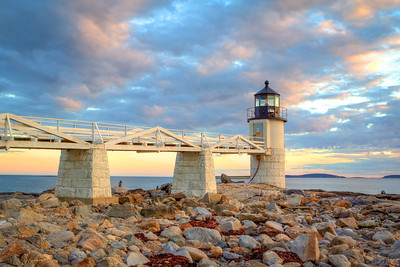Marshall Point Lighthouse: Sunset Landscape