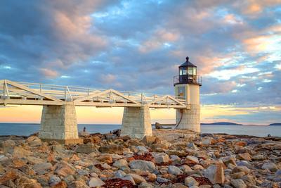 Marshall Point Lighthouse: Sunset Landscape