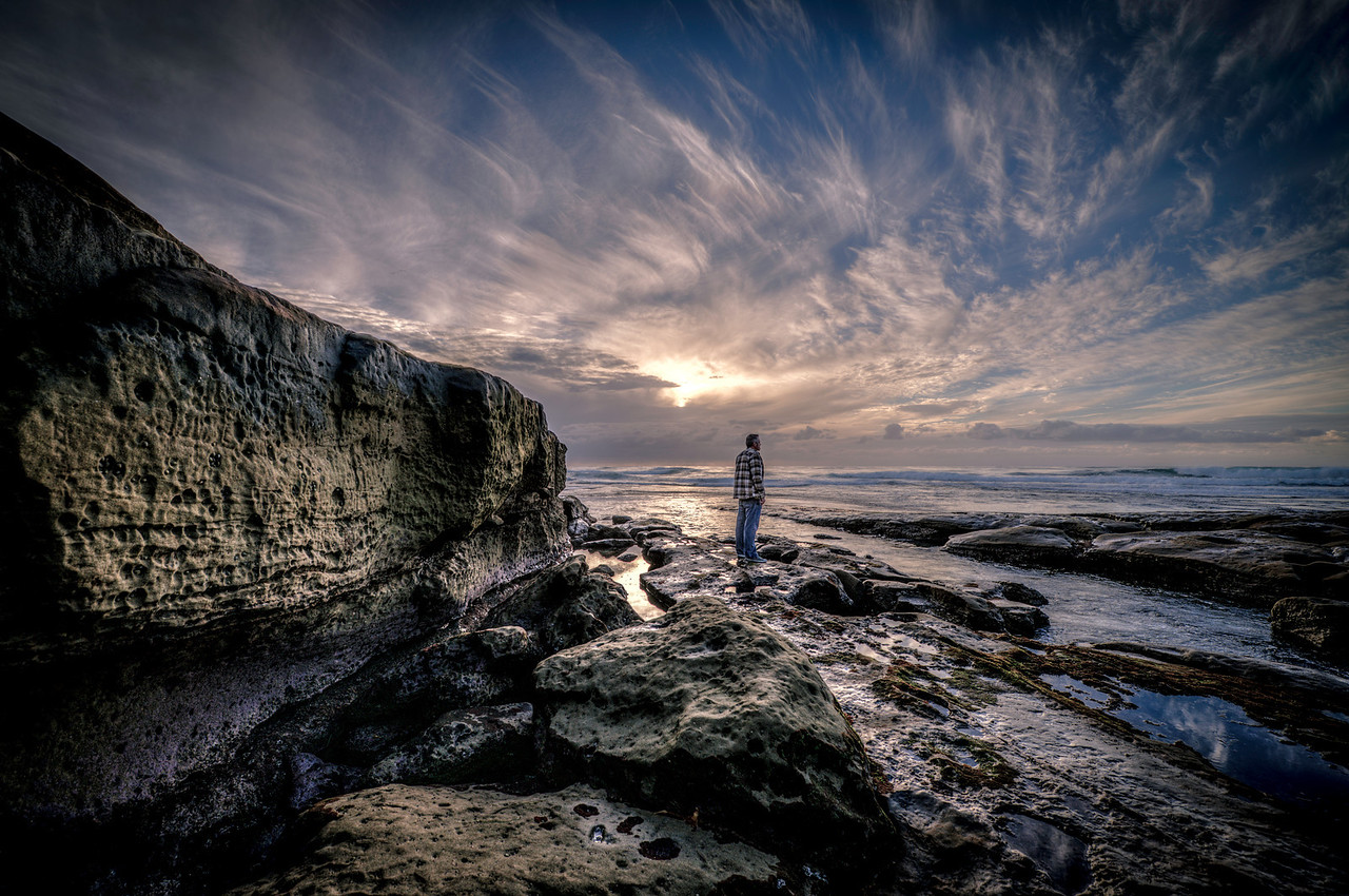 """Waiting""<br /> <br /> Waiting and watching the sun drift down in La Jolla, California."