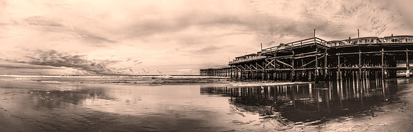 """""""Moments Like This""""  A springtime storm approaches San Diego, California. At the Crystal Pier in Pacific Beach."""