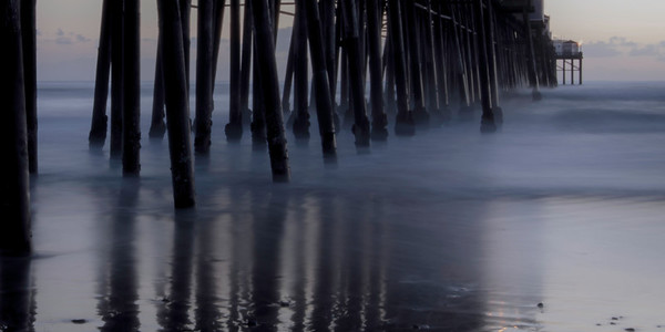 """""""Smoke And Mirrors""""  The Oceanside Pier in Oceanside, California. Long exposure in the late evening."""