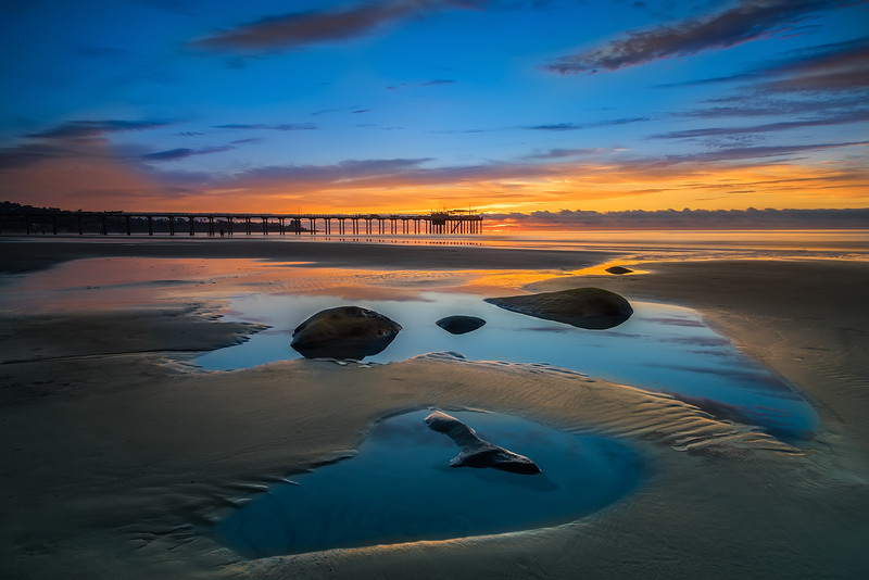 Tide Pool Reflections at Scripps Pier
