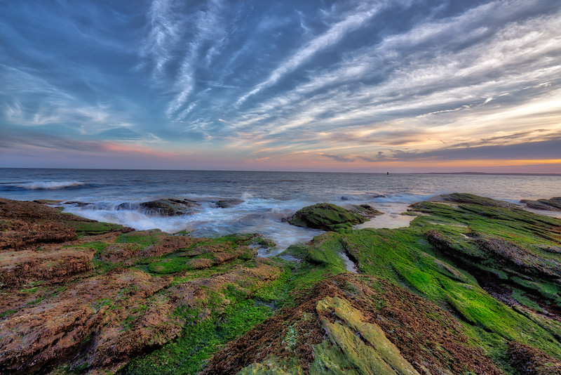 Green Sunset at Beavertail