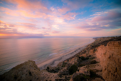 """Sweet Like Candy""  A scenic view on the cliffs high above Blacks Beach near the glider port in La Jolla, California."