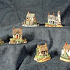Seaside Village - These freelanced sculptures are a miniature cottage collection of their own.  A great deal of character has been achieved in these unique thumb-sized sculptures that need very little space to display them.