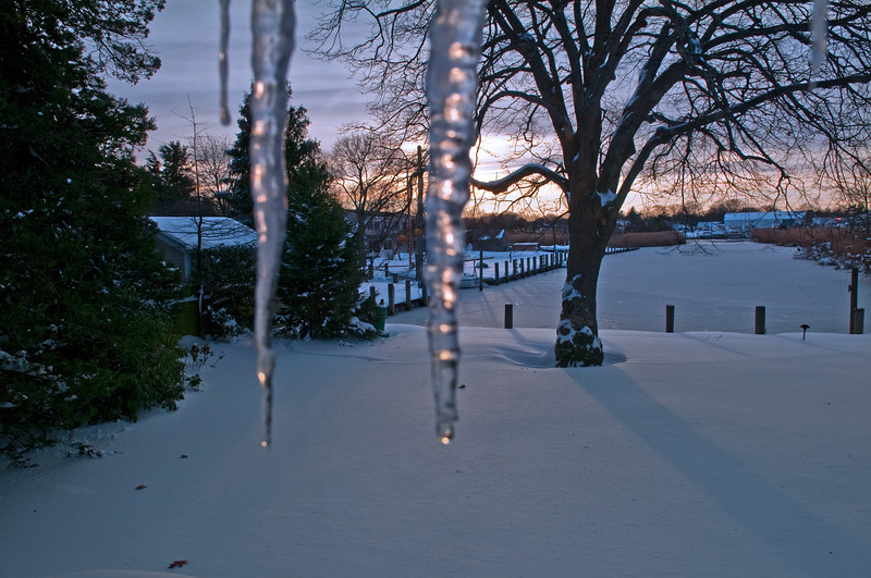 icicles, Winter on Long Island