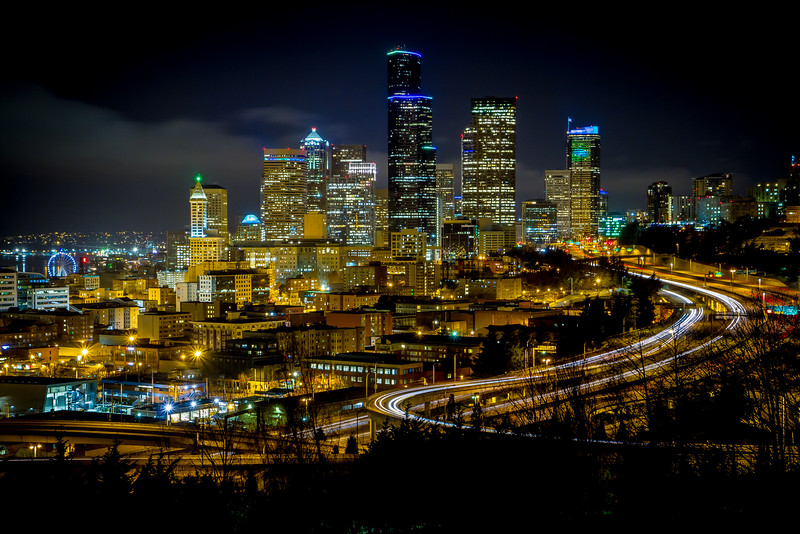 Seattle skyline viewed from Beacon Hill