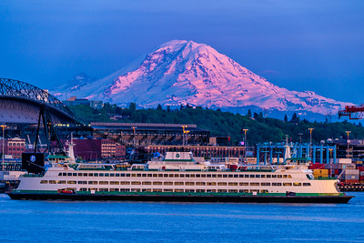Rainier and a Ferry