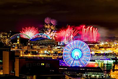 Seattle Mariners Fireworks 2016