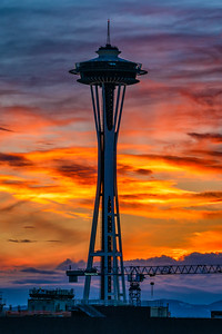 Space Needle Sunset