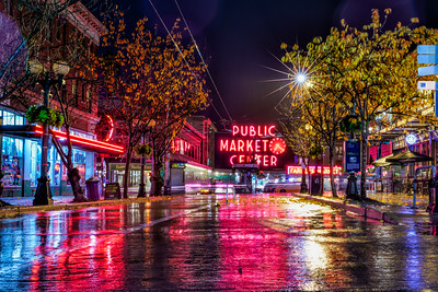 Rainy Pike Place Market