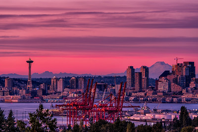 Space Needle and Mount Baker