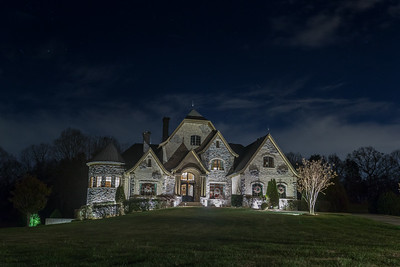 Nighttime Luxury Home