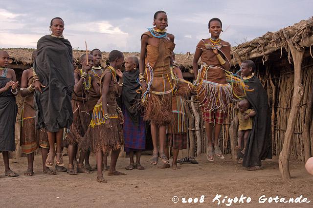 The Tatoga dancing, Tanzania