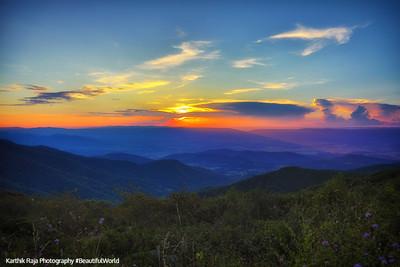 Sunset, Timber Hollow Overlook, Shenandoah National Park, Virginia