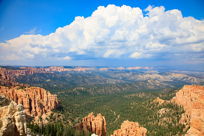 Large Cloud for scale, Rainbow Point, Bryce Canyon National Park, Utah - 9115 feet