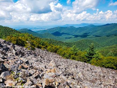 View from Black Rock Summit Trail, Appalachian Trail, Shenandoah National Park, Virginia