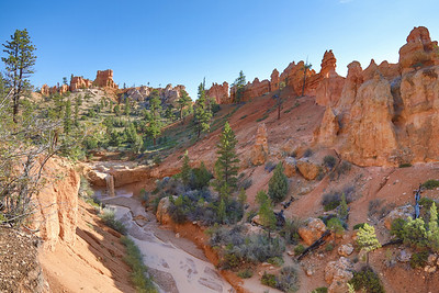 Tropic Ditch Waterfalls, Mossy Cave Trail, Bryce Canyon National Park, Utah