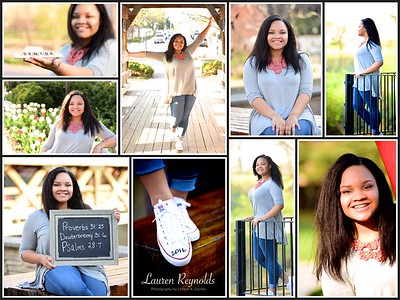 Lauren Reynolds H.S. Senior Portrait Collage by LeVern A. Danley III
