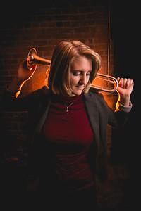Celina OH | Trumpet Player | Top Senior Portrait