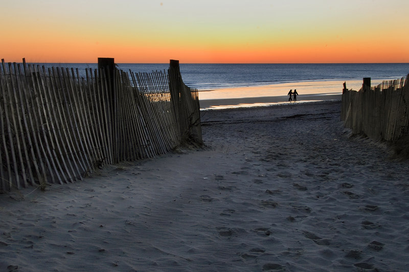 <center>SUNRISE WALK ON DUXBURY BEACH <i>(2007)</i></center> <p></p>
