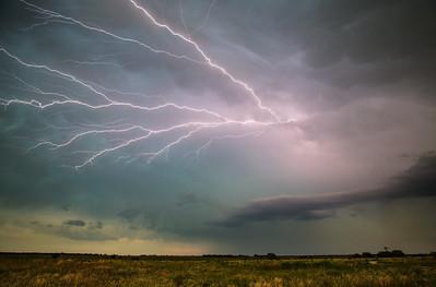 6-11-12 - Anvil Crawler Lightning captured on Highway 16 South of Graham, TX