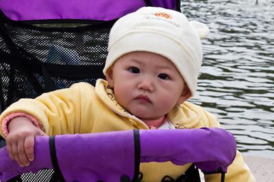 Baby near water