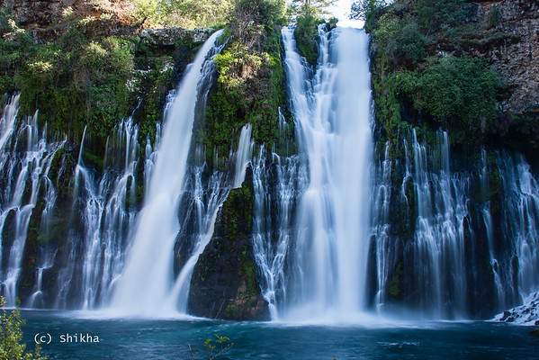Burney falls. Long exposure to create the silken effect. The  Burney falls loop trail takes you to the bottom of the falls as well as above the falls.