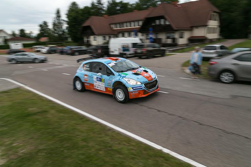 Rally Estonia rally car park at Tehvandi Otepää