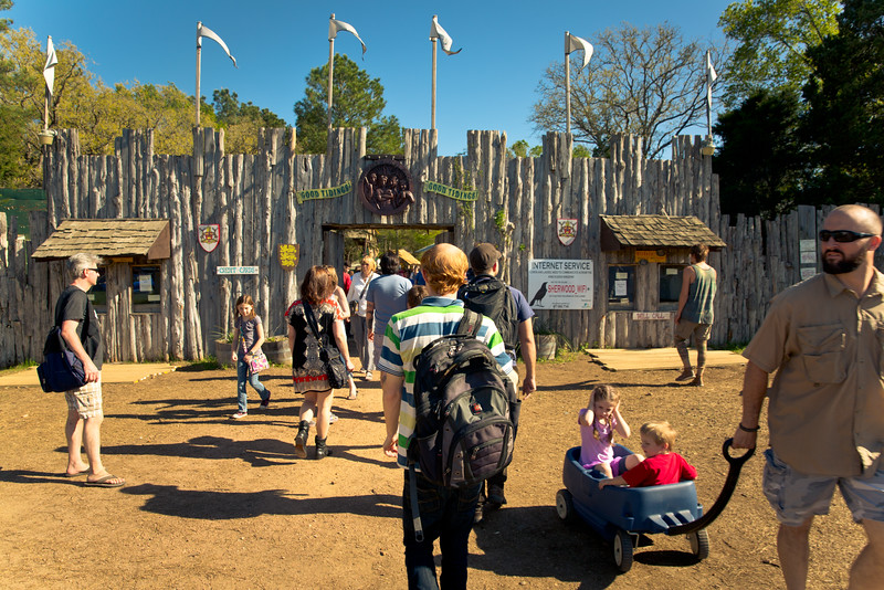 entering Sherwood Forest Faire 2015