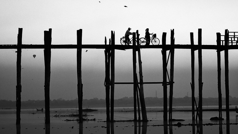 U-Bein bridge, marvelous stilt bridge