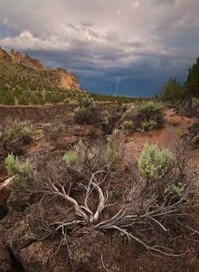 Lightning Crashes - Terrebonne, Oregon