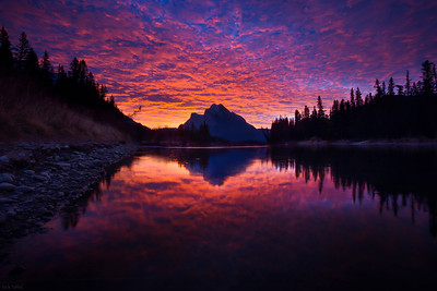 Fire in the Sky - Canmore, Alberta
