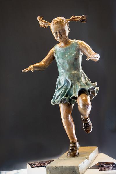 """Linda Serrao's bronze called """"Hopscotch"""""""