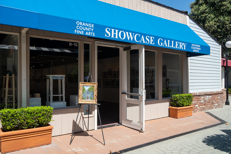 The courtyard entrance to the Showcase Gallery