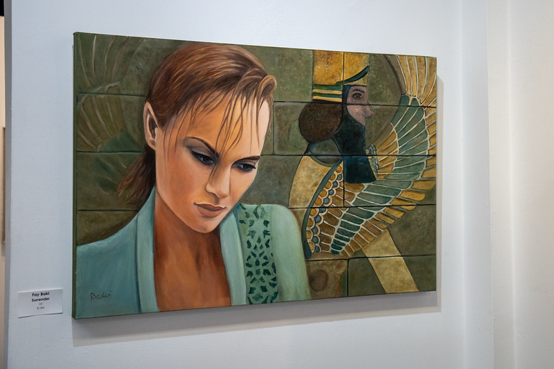 "Fay Baki's oil painting titled, ""Surrender."""