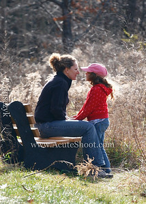 Lisa and Alice share a quiet moment at the top of Pilot Knob, NY.