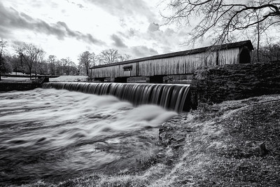 Covered Bridge after the Storm