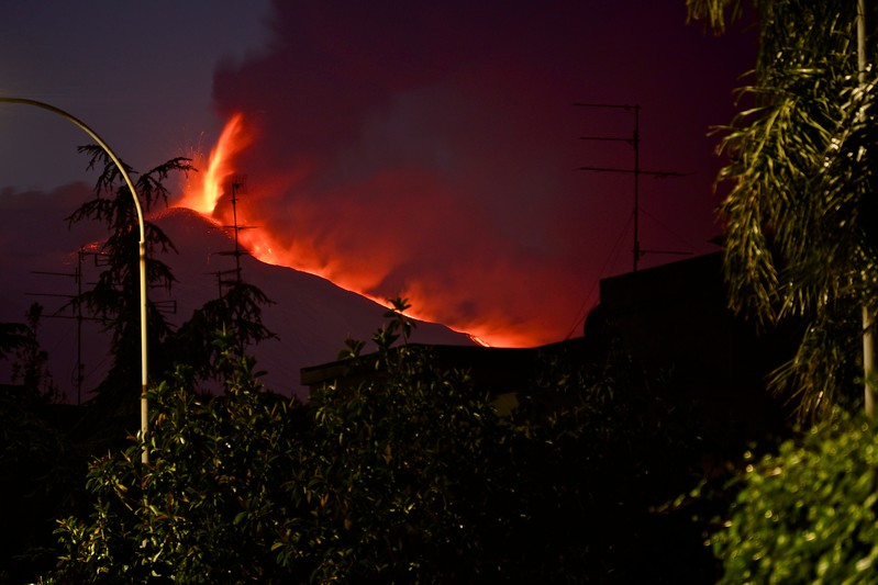 Mt. Etna Bright Eruption