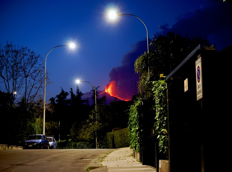 Etna Erupts over Catania