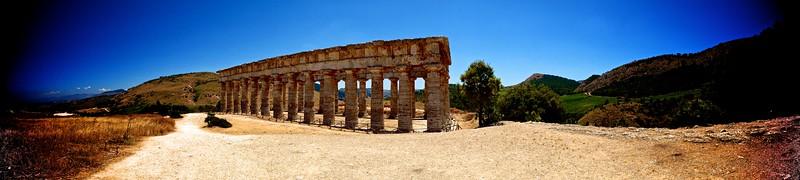 Segesta Tempio Greco Reverse Angle Panorama