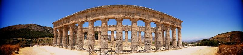 Segesta Tempio Greco Panorama