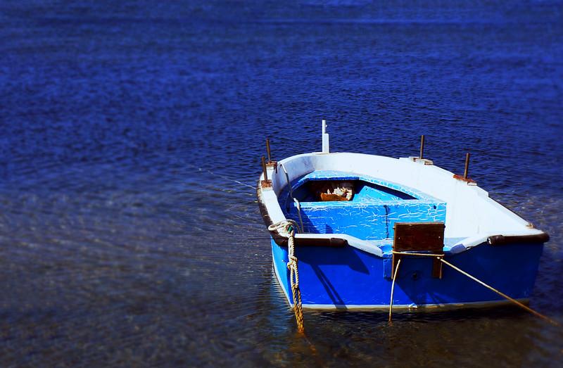 Blue Brucoli Boat