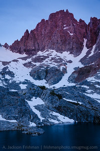 Dawn alpenglow on Ken Minaret (named after my grandfather), Ansel Adams Wilderness, California, June 2014.