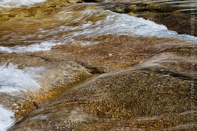 The Tuolumne River flowing over granite, Yosemite National Park, July 2016.